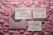 Lavender and gold wedding invitation, by JustInviteMe on etsy.com
