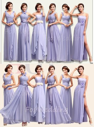 Lavender bridesmaid dress in multiple styles, by FoxWedding on etsy.com