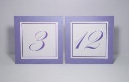 Lavender shimmer table numbers, by xARTinosCosmos on etsy.com
