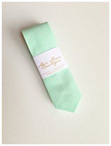 Men's mint skinny tie, by MiaLorenBoutique on etsy.com