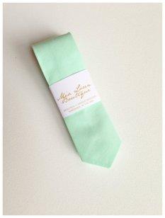 Men's mint skinny tie, by MiaLorenBoutique on etsy.com