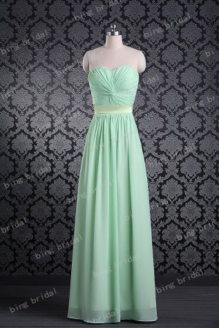 Mint bridesmaid dress, by bingbridal on etsy.com