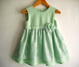 Mint flower girl dress, by ANKOdesign on etsy.com