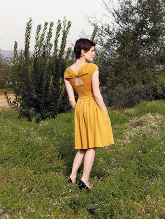 Mustard bridesmaid dress, by FleetCollection on etsy.com