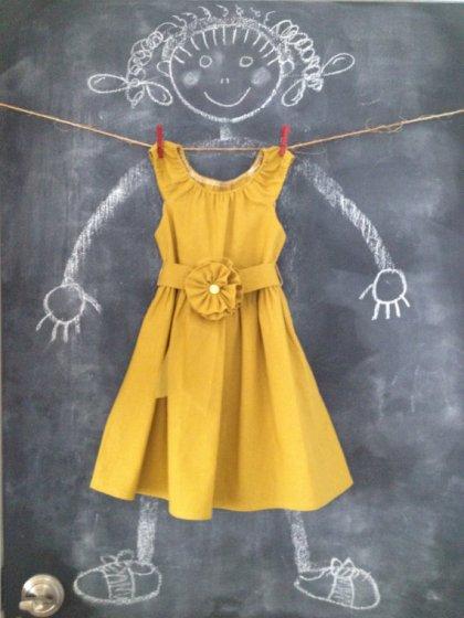 Mustard flower girl dress, by BabySuzannaJohanna on etsy.com