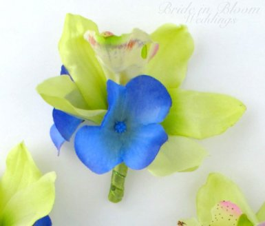 Orchid boutonniere, by BrideinBloomWeddings on etsy.com
