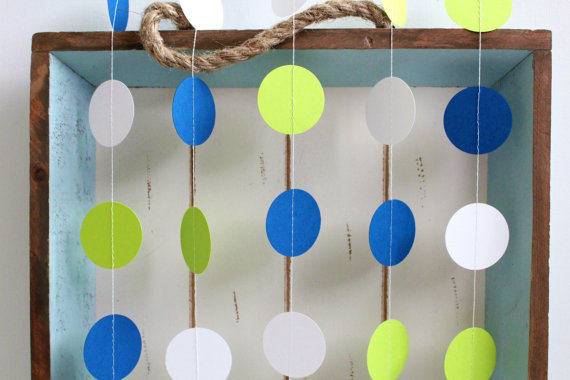 Paper garland, by FancifulChaos on etsy.com