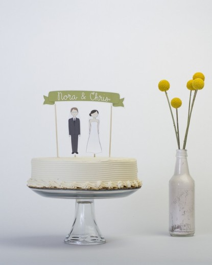 Personalised cake topper, by ReadyGo on etsy.com