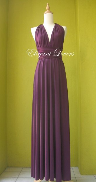 Purple bridesmaid dress, by Elegantlovers on etsy.com