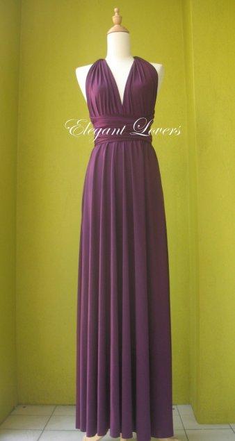 Purple bridesmaid dress, by Elegantlovers on etsy.com