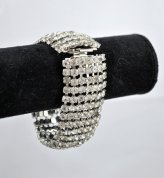 Rhinestone bracelet, by parkestatecompany on etsy.com