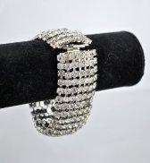 Rhinestone bracelet, by parkestatecompany on etsy.com