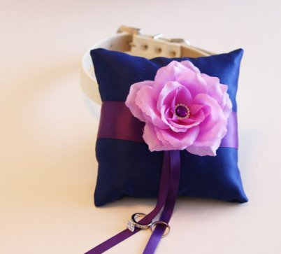 Ring pillow, by LADogStore, on etsy.com
