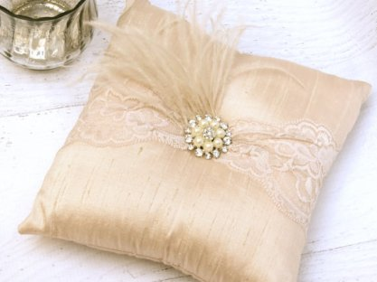 Ring pillow, by peachykeenevents on etsy.com