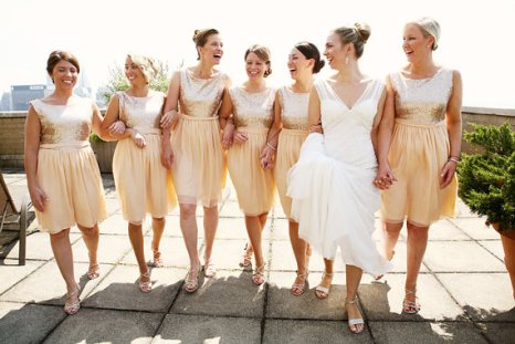 Sequin bridesmaid dresses, by dahlnyc on etsy.com