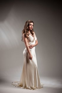 Silk wedding dress, by PureMagnoliaCouture on etsy.com