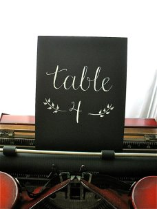 Table numbers, by LetterBeOnEtsy on etsy.com
