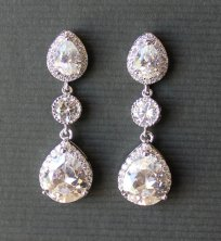 Teardrop earrings, by JamJewels1 on etsy.com