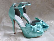 Tiffany-blue wedding heels, by Pink2Blue on etsy.com