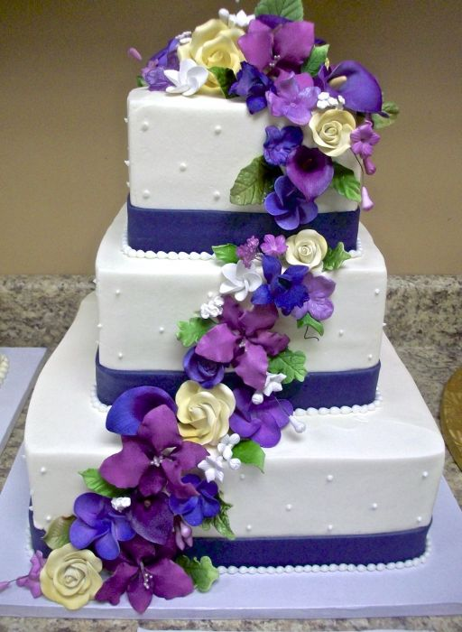 blue purple wedding cake royal blue and purple wedding the merry 12003