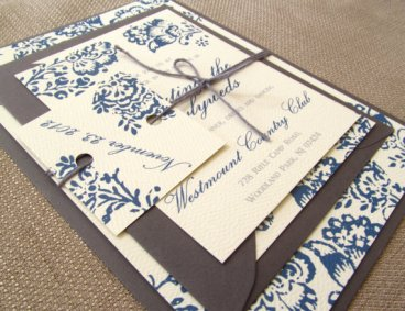 Wedding invitation, by ComplementaryDesign on etsy.com
