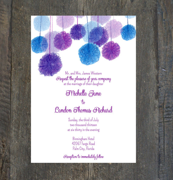 Wedding invitation by SilhouetteDesign on etsycom The Merry Bride