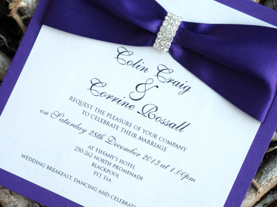 Cadbury Purple Wedding Invitations: Royal Blue And Purple Wedding