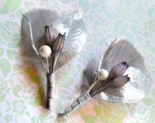 Winter wedding boutonnieres, by Rationale on etsy.com
