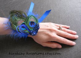 Wrist corsage, by KirahleyKreations on etsy.com