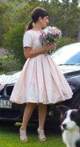 1950s-style reception dress, by SilverSixpenceBridal on etsy.com