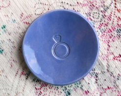 Alternative ring pillow - periwinkle ring dish! By SelfRescuingPrincess on etsy.com