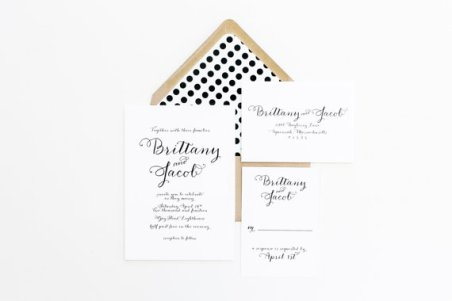 Black and white wedding invitation - www.etsy.com/shop/confettigrey