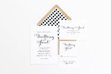 Black and white wedding invitation - www.etsy.com/shop/confettigrey