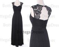 Black bridesmaid dress, by BottegaDresses on etsy.com