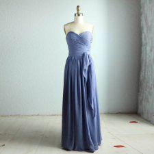 Blue-grey bridesmaid dress - www.etsy.com/shop/RenzRags