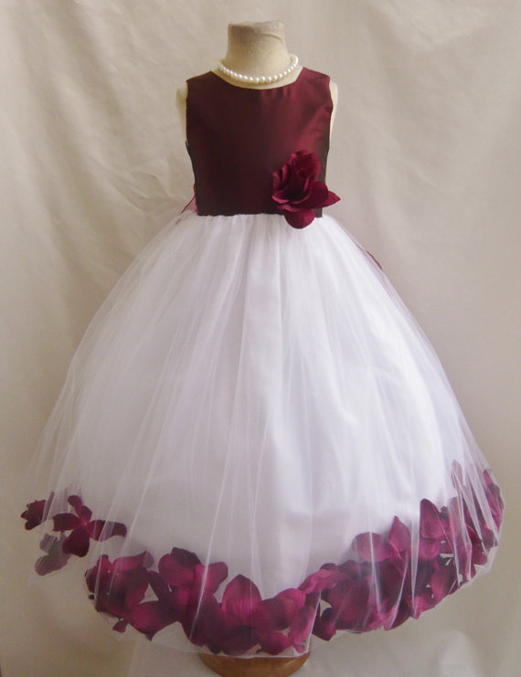 Burgundy Flower Girl Dress By Nollacollection On Etsy Com