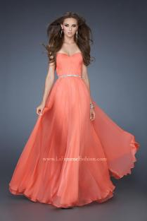 Coral 'La Femme Dress 18332', from tjformal.com