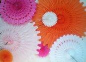 Decorative paper rosettes, by DellaCartaDecor on etsy.com