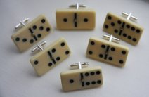 Domino cufflinks, by 33Hearts on etsy.com