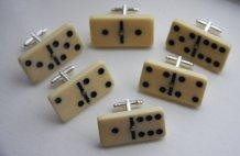 Domino cufflinks, by 33Hearts on etsy.com