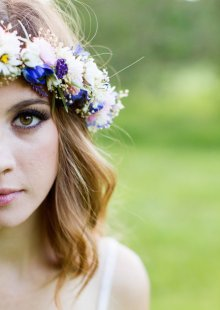 Dried floral crown - www.etsy.com/shop/AmoreBride
