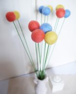 Felt flowers, by SoftTear on etsy.com