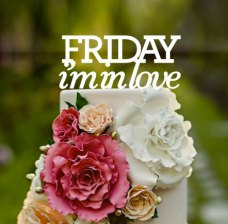 Friday I'm in love cake topper (from The Cure), by CommunicakeIt on etsy.com
