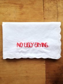 Funny bridesmaid gift - embroidered handkerchief, by wrenbirdarts on etsy.com