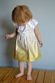 Gold and white flower girl dress - www.etsy.com/shop/redpajamas
