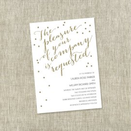 Gold and white wedding invitation - www.etsy.com/shop/TheChambrayBunny