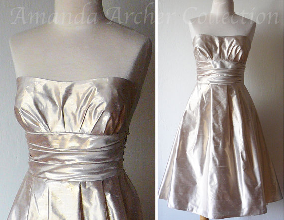 Gold and white wedding the merry bride for Best etsy wedding dress shops