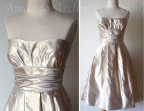 Gold bridesmaid dress - www.etsy.com/shop/AmandaArcher