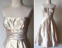 Gold bridesmaid dress - www.etsy.com/shop/AmandaArcher