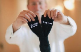 Groom's socks, by GroomSocks on etsy.com